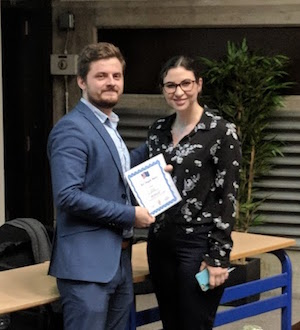 "Elexis Kenny awarded ""Best Special Role"" at EuroSim 2018"