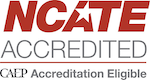 National Council for the Accreditation of Teacher Education (NCATE) CAEP Accreditation Eligible logo