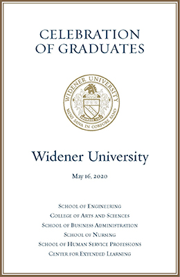 2020 Commencement Program Cover 260px