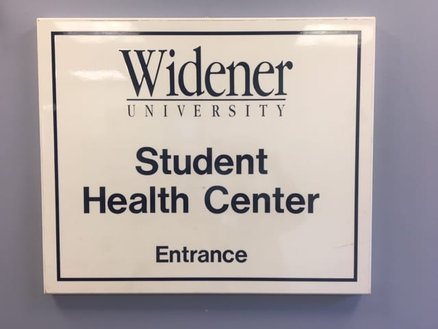 Student Health Center Sign