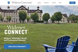 widenerCONNECT webpage screenshot