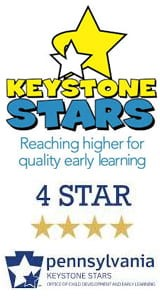 Keystone Stars Logo: Reaching Higher for Early Learning (4 Star)