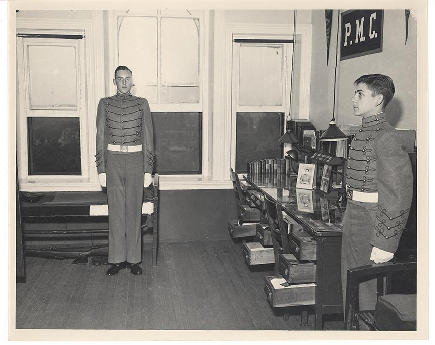 1930s cadet room inspection