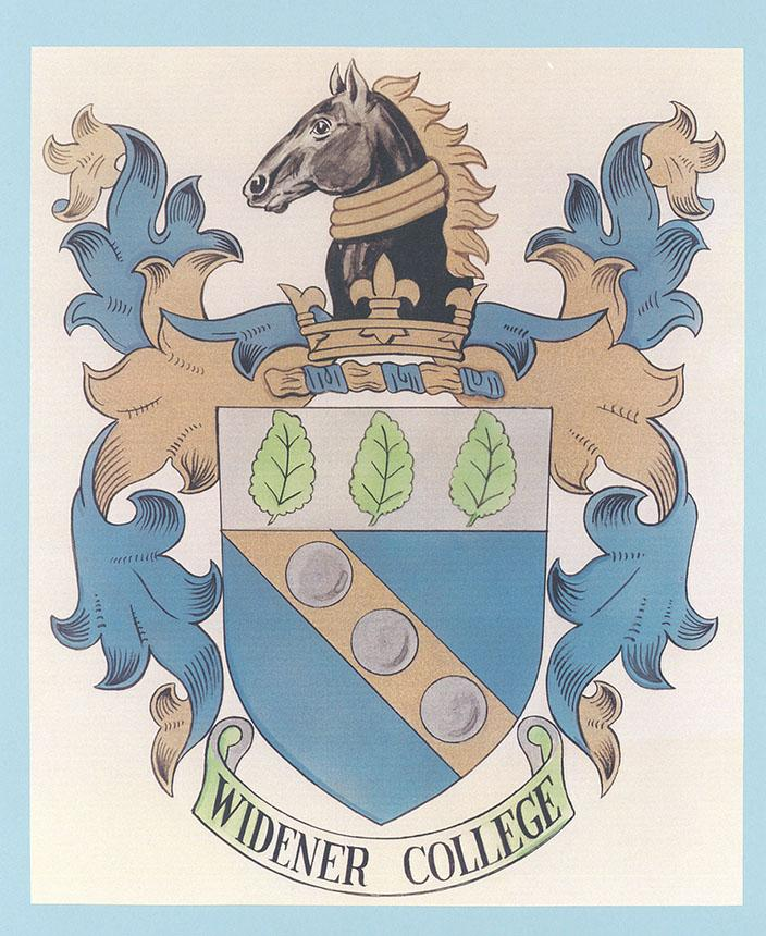1972 widener college seal