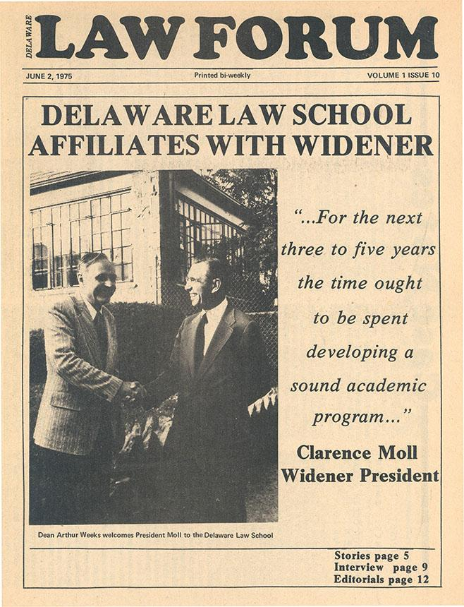1975 delaware law school news article