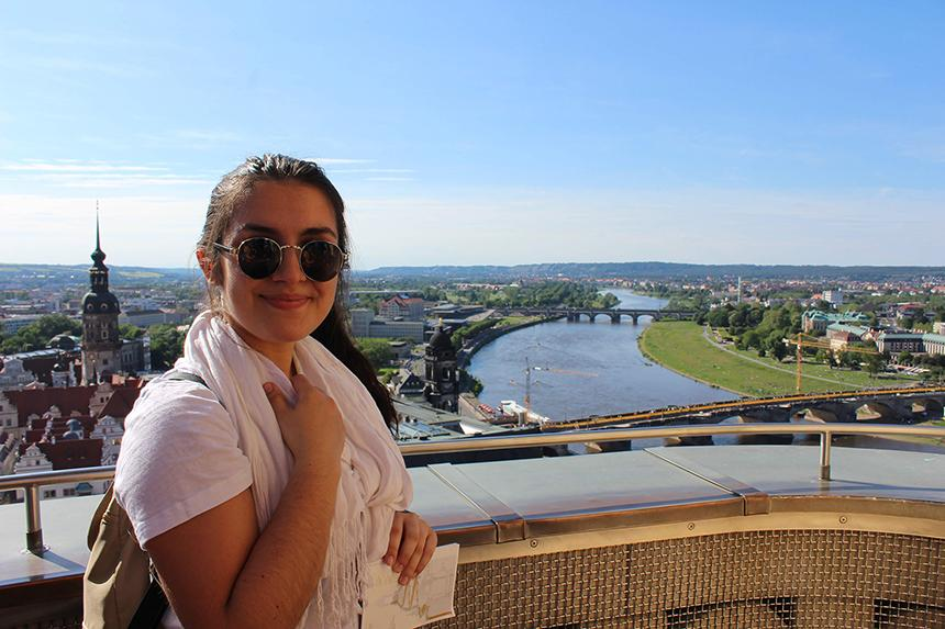 study abroad student in dresden germany