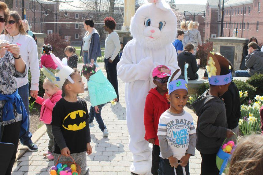CDC Easter egg hunt with bunny