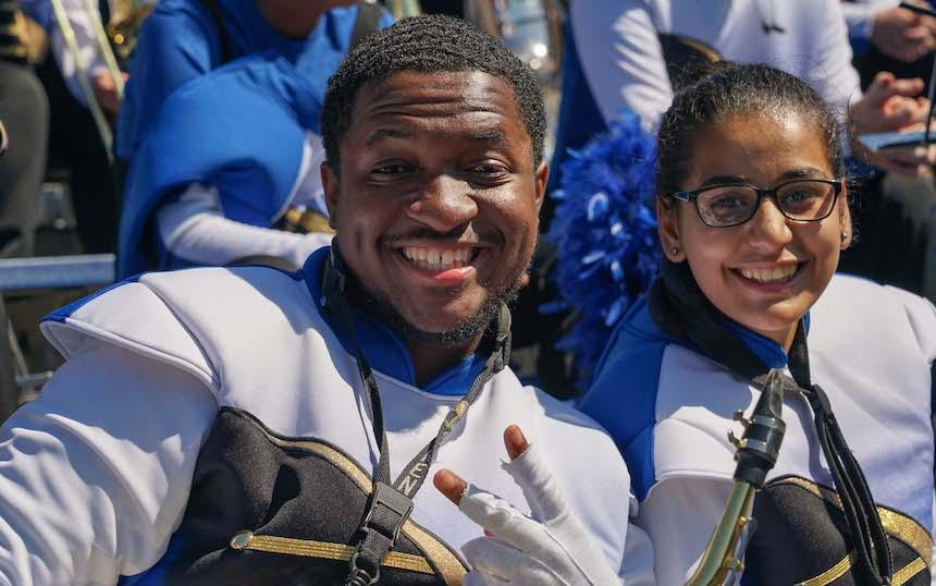 Widener Band Members Smiling