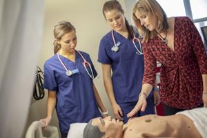 Nursing BSN students in a clinical setting
