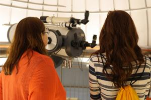 Students in observatory