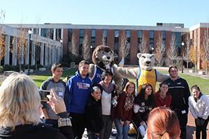 students visit campus
