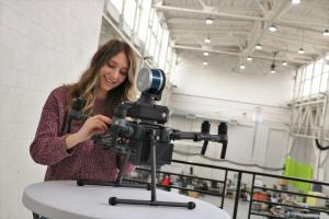 Sophomore Taylor Kohnow explores autonomous drones during her semester-long co-op at Exyn Technologies