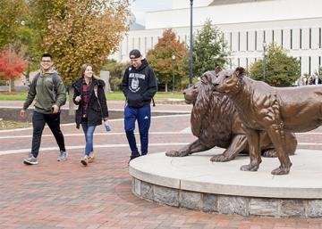 Students Pride Statues On Campus