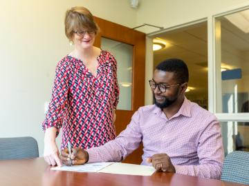 Mamadou Keita is mentored by Professor Stephanie Schechner