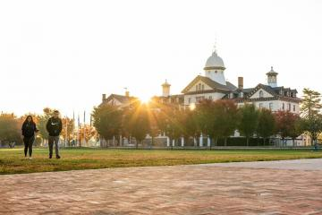 Sunrise over Old Main building