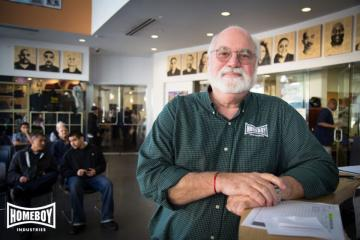 Head shot Image of 2020 commencement speaker Father Greg Boyle