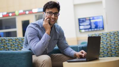 Business Student on Laptop