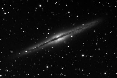 NGC 891 Edge-On Spiral Galaxy in Andromeda