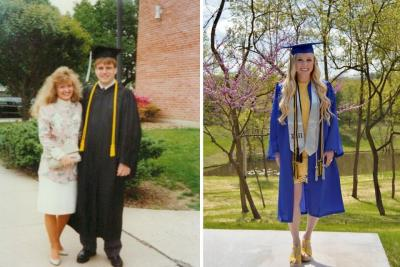 Smith Family graduations in 1991 and 2020