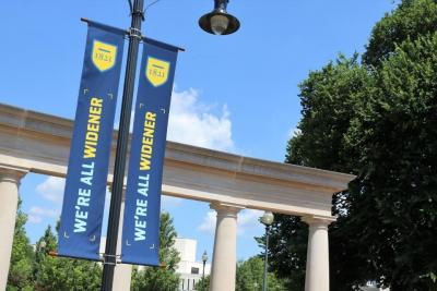 We're All Widener Banners on campus
