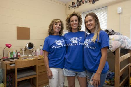 3 generations of nursing students on move-in day