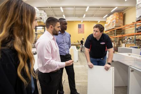 Students touring American Wood Design