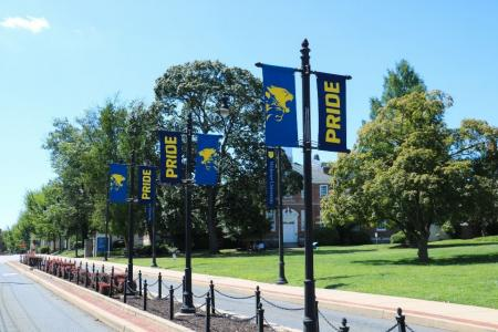 New Pride banners were hung around campus to kick off the fall semester.