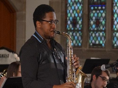 widener student musician plays jazz music