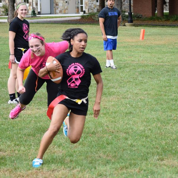 Girls powderpuff football