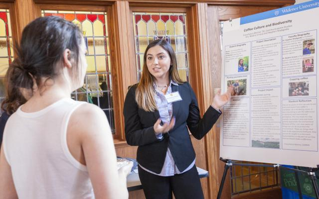 Student Presenting at HIP Fair