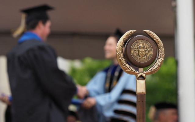 widener university mace at commencement
