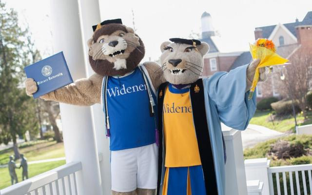 Mascots Wearing Commencement Garb