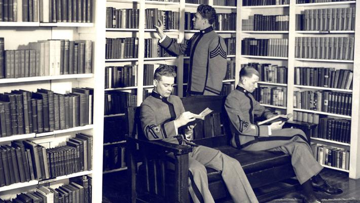 pmc cadets old main library
