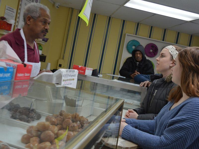 Students buy doughnuts at Phatso's Bakery
