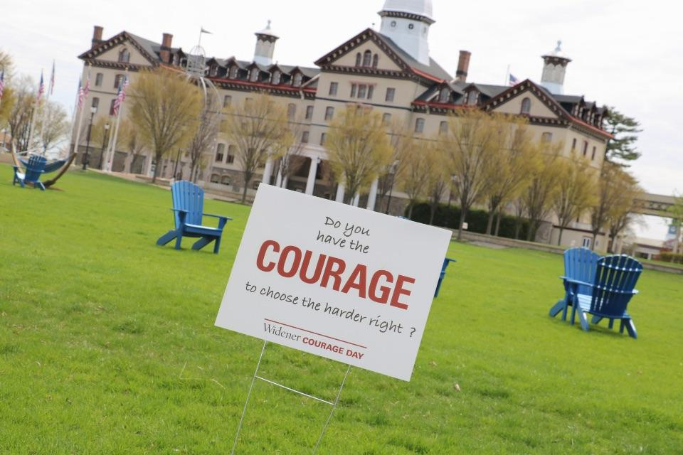 Courage Day sign