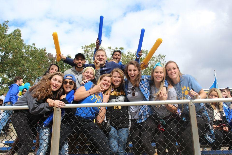 Widener Homecoming Football Game Students
