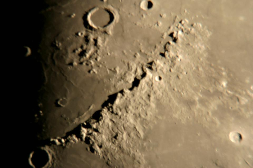 Lunar Apennine Mountains